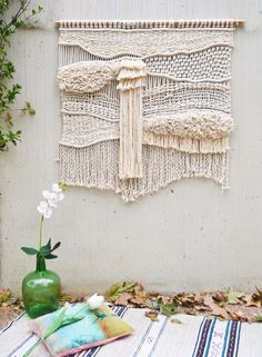 The shape of this macrame wall hanging inspires me to do a 3-D woven piece of a lighthouse. Can you see it?