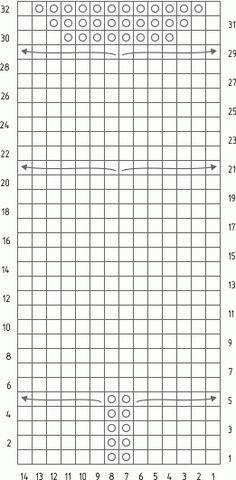 Планета Вязания | Узор Сова спицами. Подробное описание и схема вязания узора.