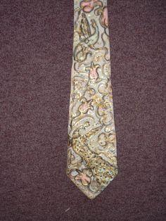 Handgemalte silbergrau Hals Seide Krawatte Motiv von aminamarei