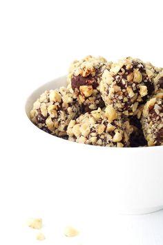 Four ingredient Nutella Hazelnut Chocolate Truffles made with dark chocolate ganache, a generous helping of Nutella and chopped roasted hazelnuts.