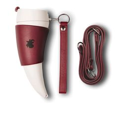 MARSALA GOAT Mug (original) 350ml/12oz with long and short marsala leather strap