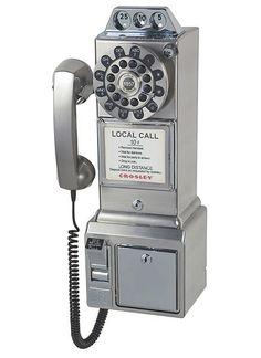 CR55-BC Crosley 302 Wall Phone - Brushed Chrome