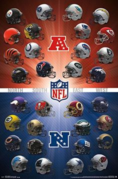 NFL Helmets X Wall Poster At Trends International Our High Quality Print Process Provides A Crystal Clear Image In Full Detail And Is Frame