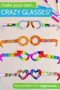 Crazy glasses templates