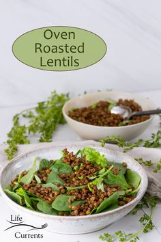Easy to make Crispy Roasted Lentils are a delicious smokey flavored snack, salad or soup topper, healthy addition to any meal! Best Vegetable Recipes, Whole Food Recipes, Side Recipes, Light Recipes, Lunch Recipes, Dinner Recipes, Roasted Lentils, Healthy Snacks, Healthy Eating