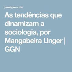 As tendências que dinamizam a sociologia, por Mangabeira Unger | GGN