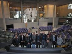 Our Executive Master in Energy Management at the Berlin Reichstag - checking out the energy concept of the building.