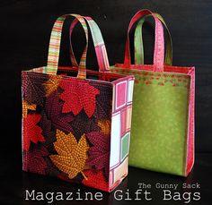 {Tutorial Martes} Revista y Papel Bolsas de regalo | El saco de yute