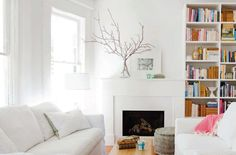 Love the light, bright white and small accents of natural wood. | vancouver vintage modern. / sfgirlbybay