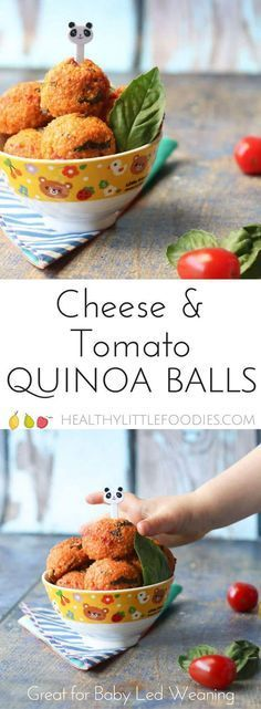 These cheese and tomato quinoa balls are a great finger food for baby led weaning but will be enjoyed by the whole family. Lunch box friendly. #blw #babyledweaning #kidfood #kidsfood #healthykidsfood #lunchbox #lunchboxfriendly via @hlittlefoodies