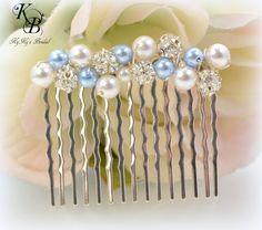Wedding Hair Comb, Pearl Hair Comb, Choice of Colors, Bridesmaid Hair Accessory, Bridal Hair Accessory, Custom Hair Comb, Wedding Hair