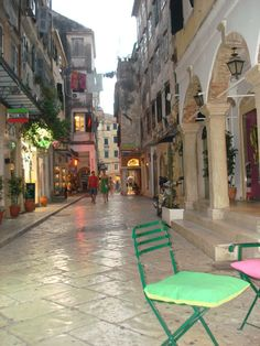 Corfu town Travel Around The World, Around The Worlds, Corfu Town, Corfu Island, Corfu Greece, Greece Islands, Greece Travel, Santorini, Cool Places To Visit