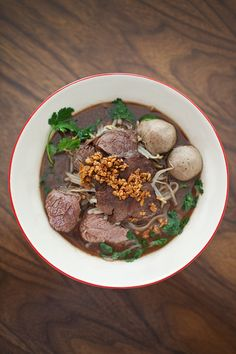 Blog Archive » Sunday Supper. Thai Boat Noodle Soup Recipe. Kway Tiao Lua: It's All in the Blood.