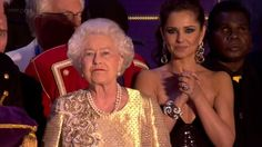 The final 15 minutes of The Queen's Diamond Jubilee Concert outside Buckingham Palace London on 4th June 2012. Includes all the performers and Her Majesty Th...