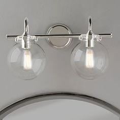 Image result for unique above mirror vanity lighting