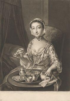 Morning, 1758, by Richard Houston, Mezzotint, Yale Center for British Art