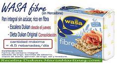 PAN Wasa Mercadona dieta Dukan (apto para la Escalera Dukan desde el jueves / para la dieta Dukan original a partir de Consolidación)