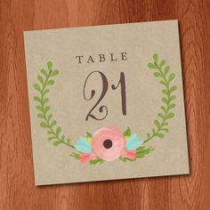 Printable Table Numbers DIY Instant by VeronicaFoleyDesign
