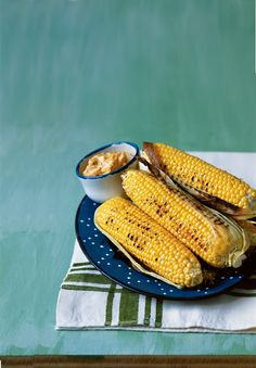 Grilled Sweet Corn with Chipotle-Lime Butter