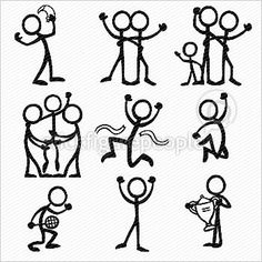 stick figure bicycle - Google Search