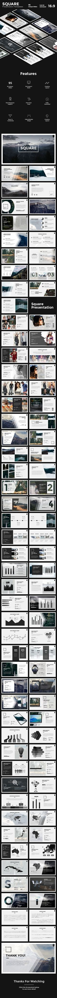 #Square #PowerPoint - PowerPoint Templates #Presentation Templates