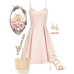 Aurora by violetvd on Polyvore featuring Girls On Film, GUESS, Natasha Couture, R.J. Graziano, Irene Neuwirth and Disney
