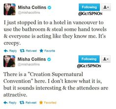 Misha Collins Tweets
