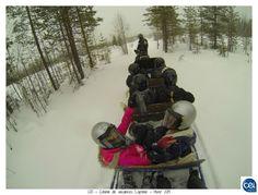 Colonie de vacances Laponie - Hiver 2013. #laponie #finlande  #cei #neige #balade #traineau