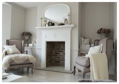 French style reading room, with French fireplace and French armchairs.
