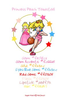 princess peach color palette