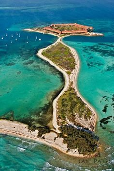 Dry Tortugas National Park, Florida :: Historic Fort Jefferson, ca. 1825-1826 :: The fortress served as a defensive outpost in the Florida keys, and then as a Civil War prison...