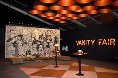 """'Vanity Fair' Oscars Party: At a panel hosted before the event, Walters explained that the party has no theme. """"We really dispute the notion of themes,"""" he said. """"Inspirations are fairly consistent, as far as [Vanity Fair editor Graydon Carter's preferred] reference to mid-century modernism as his design compass. We do also try to incorporate the nostalgia [of] the old Hollywood of the 1930s and '40s."""""""