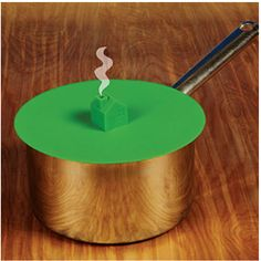 Home Cooking Food-Safe Green Silicone Steamer Lid for Pots and Pans