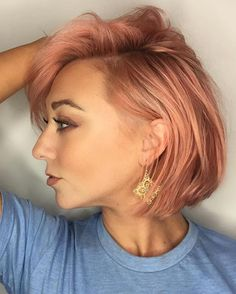 awesome 30 Stunning Ways to Wear Rose Gold Hair -- Top Notch Beauty and Glamour Check more at http://newaylook.com/best-rose-gold-hair/