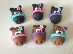 edible horse cupcake toppers. $12.00, via Etsy.