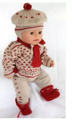Elegant clothes for Baby born doll Knitted Doll Patterns, Crotchet Patterns, Knitted Dolls, Knitting Dolls Clothes, Crochet Doll Clothes, Reborn Dolls, Baby Dolls, Baby Knitting, Crochet Baby