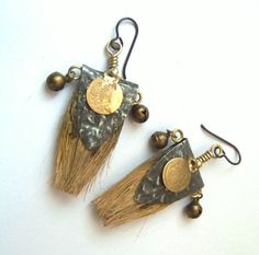 Unique Artisan Dangle Earrings made of Vintage by Stilbruch2012