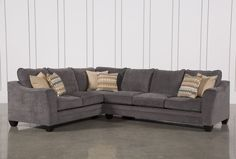 Mesa Foam 2 Piece Sectional, Grey, Sofas