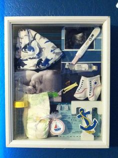 Newborn shadow box: