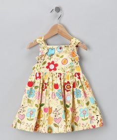 Take a look at this Yellow Sunny Skies Knot Dress - Infant, Toddler & Girls by Lil'Daisies on #zulily today!