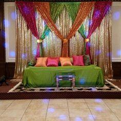 Wedding Indian Decoration Diy Bridal Shower 33 Ideas For 2019 Desi Wedding Decor, Wedding Stage Decorations, Wedding Mandap, Fall Wedding, Indoor Wedding, Party Wedding, Trendy Wedding, Wedding Reception, Ganapati Decoration