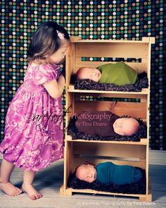 newborn photography triplets siblings