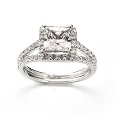 Princess Cut Diamond Engagement Ring. With 2 Carat Total Weight of Diamonds. This design is available in all metals and diamond shapes and sizes. Please don't hesitate to contact us with any questions. Our Price : $4,900.00 #rings #ring #diamond #engagement #engagementring #wedding #bride #savethedate #jewelry #stone #fashion #women #fashion #musthave
