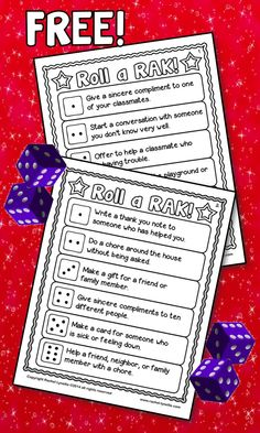 Your students will love this FREE Roll a RAK (Random Act of Kindness) Activity! Rolling the dice makes it truly random - and way more fun. Bring more kindness to your classroom or even your entire school!