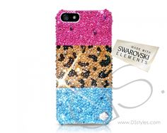 Leopardo Mixed Bling Swarovski Crystal iPhone 6 Plus Case  (5.5 inches)                http://www.dsstyles.com/product/leopardo-mixed-bling-swarovski-crystal-iphone-6-plus-case-5.5-inches-