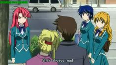 Kaze No Stigma funny | main male protagonist, yet with another woman in his arms, making fun ...