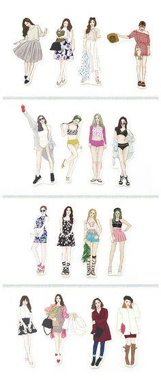 Princess hyun sweet girl into sticker set 16 seasons - Bon Bon Stickers   Pinkoi