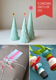 15 simple christmas crafts for kids ⋆ handmade charlotte Christmas Crafts For Kids, Simple Christmas, Crafts For Teens, Holiday Crafts, Holiday Fun, Christmas Holidays, Diy And Crafts, Arts And Crafts, Handmade Crafts