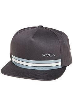 cd40066d3c8 RVCA Hat The Barlow Twill Snapback in Charcoal Grey Streetwear Fashion