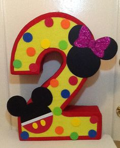 Clubhouse piñata. Mickey and Minnie Mouse birthday by aldimyshop